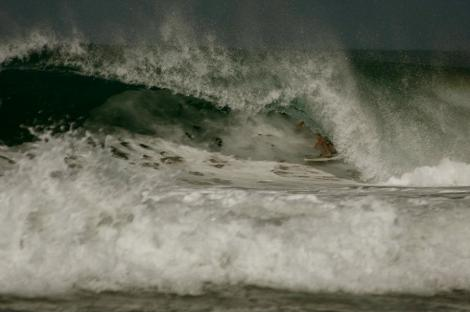 Barrels at Pinetrees in Hanalei Bay...someday I will be this good (maybe.)
